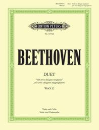 Duett mit zwei obligaten Augengläsern WoO 32 : viola and cello | Beethoven, Ludwig van (1770-1827)