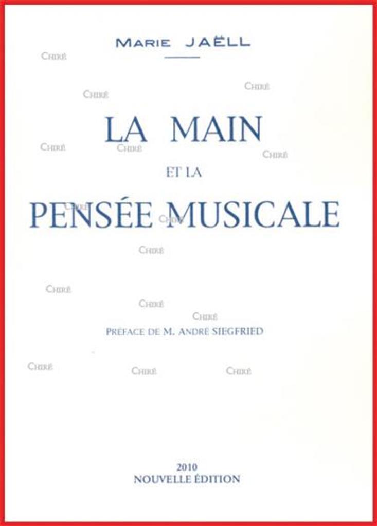 La main et la pensée musicale | Jaëll, Marie (1846-1925)