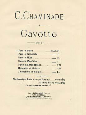 Gavotte op. 9 [pour] piano et violon | Chaminade, Cécile (1857-1944)