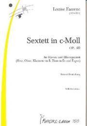 Sextuor op. 40 en ut mineur : pour piano et quintette à vent | Farrenc, Louise (1804-1875)