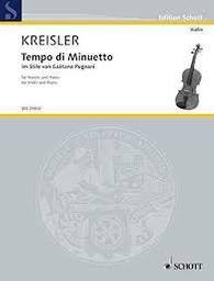 Tempo di minuetto im Stile von Gaëtano Pugnani | Kreisler, Fritz (1875-1962)