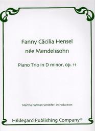 Piano trio in D minor op. 11 | Mendelssohn-Hensel, Fanny (1805-1847)