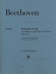Serenade D-dur für Klavier und Flöte (Violin) Opus 41 | Beethoven, Ludwig van (1770-1827)