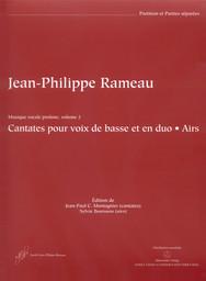 Musique vocale profane. Volume 1, cantates pour voix de basse et en duo, canons | Rameau, Jean-Philippe (1683-1764)