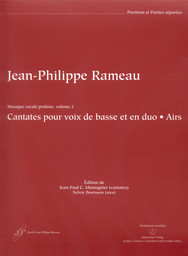 Musique vocale profane. Volume 1, cantates pour voix de basse et en duo, canons   Rameau, Jean-Philippe (1683-1764)
