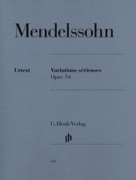 Variations sérieuses Opus 54 | Mendelssohn-Bartholdy, Felix (1809-1847)