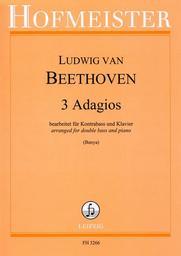 3 adagios für Kontrabass und Klavier | Beethoven, Ludwig van (1770-1827)