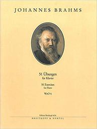 51 Übungen : für Klavier | Brahms, Johannes (1833-1897)