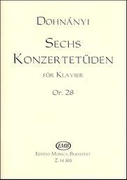 Sechs Konzertetüden op. 28 : für Klavier. I   Dohnanyi, Ernö (1877-1960)