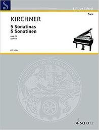 5 sonatinas opus 70 | Kirchner, Theodor (1823-1903)
