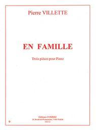 En famille : trois pièces pour piano   Villette, Pierre (1926-1969)