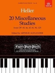 Twenty miscellaneous studies | Heller, Stephen (1813-1888)