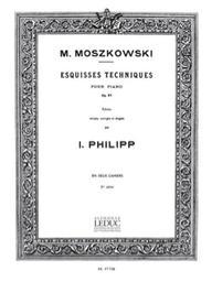 Esquisses techniques pour piano, op. 97 en deux cahiers. 2me cahier | Moszkowski, Moritz (1854-1925)