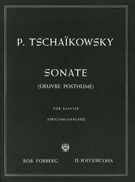Sonate : oeuvre posthume composée en 1865 | Tchaikovsky, Piotr Ilyich (1840-1893)