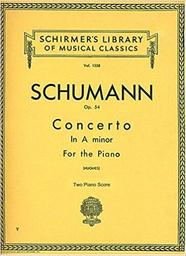 Concerto in a minor op. 54 for the piano : with the orchestral accompaniment arranged for a second piano | Schumann, Robert (1810-1856)