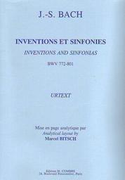 Inventions et sinfonies... : BWV 772-801 : Urtext | Bach, Johann Sebastian (1685-1750)