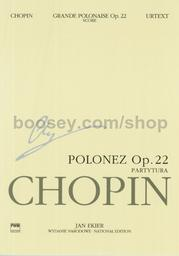 Polonaise in Eb op. 22 preceded with andante spianato for piano and orchestra version for one piano   Chopin, Frédéric (1810-1849)